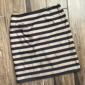 MaxMara Weekend Brown & Black Striped Pencil Skirt